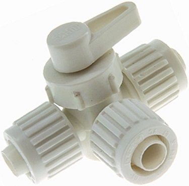 Flair-It 16914 3-Way Valve, Water Shut-Off, 1/2""