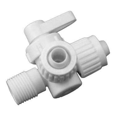 Flair-It 06912 3-Way Valve, 90 Center Drain, 1/2""