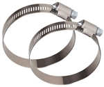 "Valterra H03-0058VP Galvanized Steel 3-1/2"" Worm Gear Hose Clamp - 2 Pack"