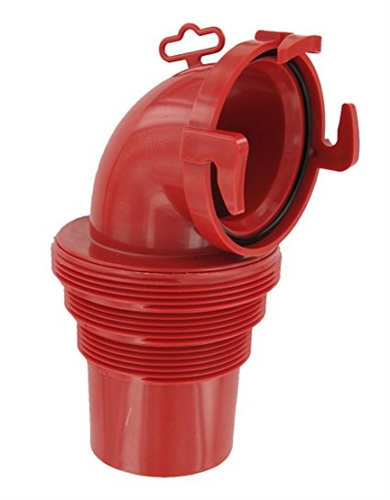 Valterra F02-3112 90 DegreeEZ Coupler Bayonet Sewer Fitting