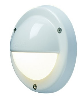 FriLight Targa Cap Dual-Color LED Courtesy Light With White Trim & Switch - 6 Blue, 10 Warm White