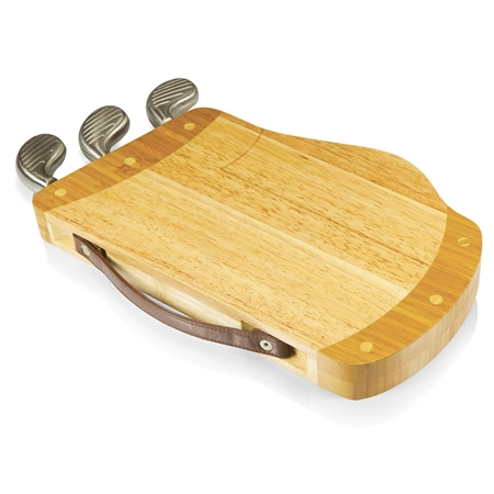 Picnic Time 914-00-505-000-0 Caddy Cheese Board and Tools Set - Rubberwood and Bamboo