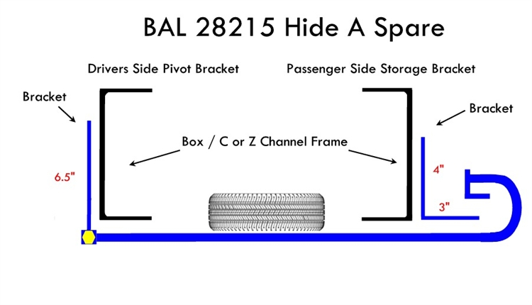 Bal 28215b Hide A Spare 68 Quot To 75 Quot Box Channel Frame