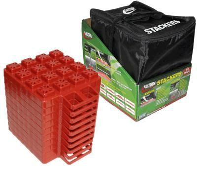 Valterra A10-0920 Stackers EZ Leveler Jack Pads With Storage Bag- 10 Pack