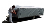 "ADCO 12295 16'1"" to 18' SFS AquaShed Folding Trailer Cover"