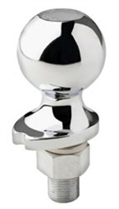 "Master Lock Hitch Ball Chrome Plated Steel  2"" x 3/4"" x 2-3/8"""