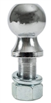 "Buyers 1802110 1-7/8"" Chrome-Plated Hitch Ball 1"" Shank Dia, 2-1/8"" Shank Length - 2000 Lbs"