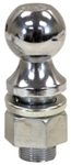 "Buyers Chrome Plated Towing Ball, 2"" x 3/4"" x 1-3/4"""