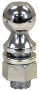"Buyers Chrome Plated Towing Ball, 2"" x 1"" x 2-1/8"""