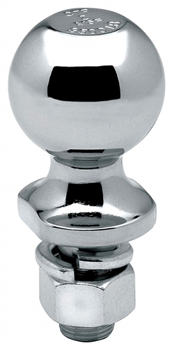 "Draw-Tite 63812 1-7/8"" Chrome Hitch Ball 3/4"" Shank Dia, 2-3/8"" Shank Length - 2000 Lbs"