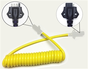 JetConnex Coiled Cable 4  Flat Male To 4  Flat Female 6'