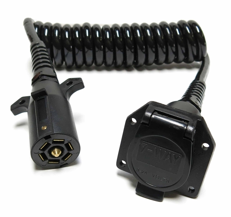 JetConnex 13030-05 Coiled Cable 7 Round To 7 Wire Receptacle