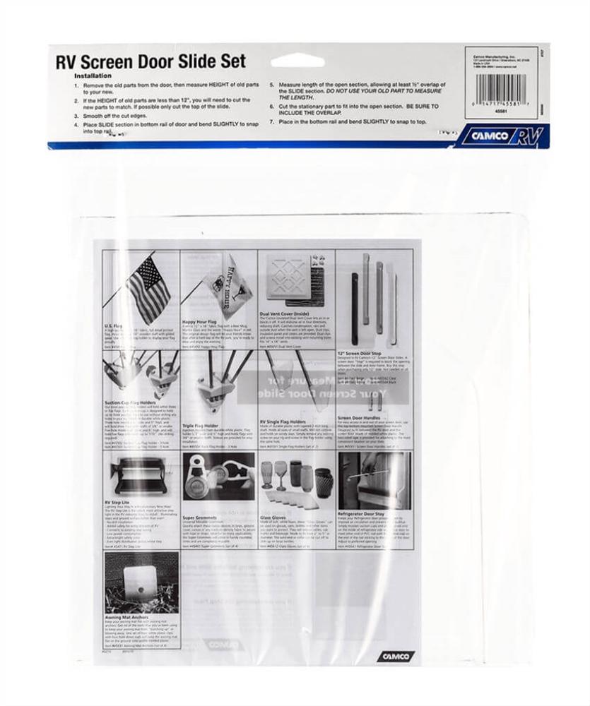 Camco 45593 Screen Door Slide 12 H X 28 W