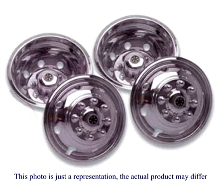 Dicor V160SD Versa-Liner, SS Wheel Cover Set 1988-Current, Super Duty, 10 Lug, 4 Hand Hole