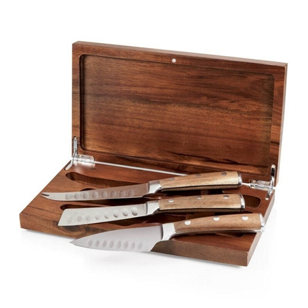 Picnic Time 961-00-506-000-9 Tridente Cheese Tools Set - Acacia