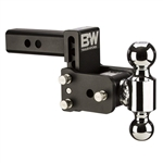 "B & W TS10037B 5"" Drop  Tow & Stow Dual-Ball Ball Mount"