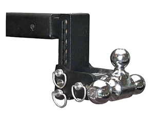 "B&W TS10049B Tow & Stow Tri-Ball Trailer Hitch Mount - 3"" Drop"