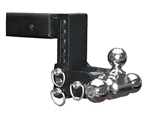 "B&W TS10049B Tow & Stow Tri-Ball Trailer Hitch Mount - 7"" Drop"