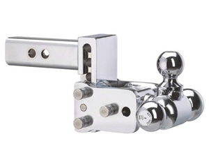 B&W TS10047C Model 6 Tow & Stow Chrome Tri-Ball Trailer Hitch Mount