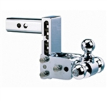 "B & W TS10048C 8"" Tow & Stow Chrome Tri-Ball Hitch"