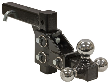 Buyers 1802225 Tri-Ball Trailer Hitch Adjustable Ball Mount - 5 Drop