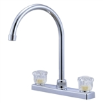 Relaqua AK-227SN Satin Nickel High Arch RV Kitchen Faucet
