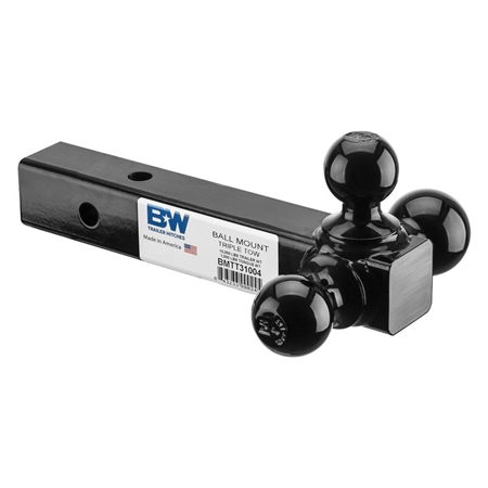 B&W BMTT31004 Trailer Hitch Triple Tow Ball Mount