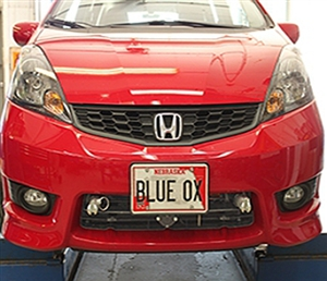 Honda Fit With Foglights Blue Ox Base Plate