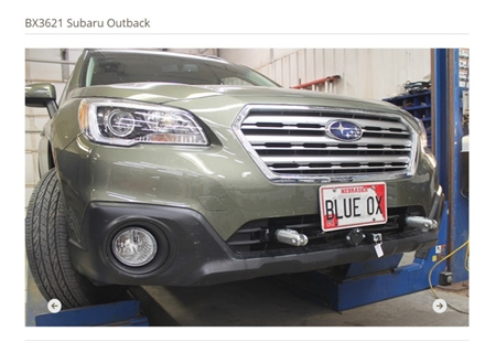 Blue Ox Base Plate Subaru Outback 2015 - 2016