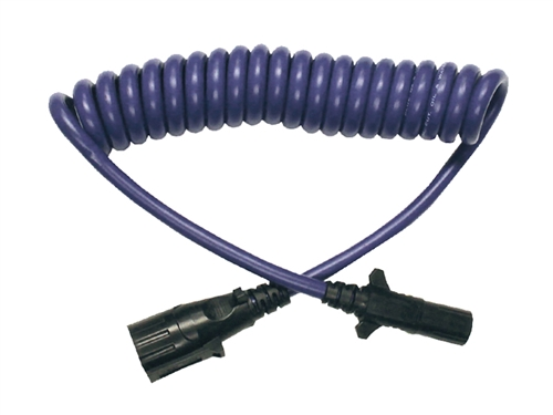 Blue Ox BX88206 7-Way To 6-Way Electrical Coiled Cable