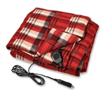 Camco 42804 Electric Heated Fleece Blanket - Plaid Red - 12V