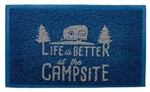 "Camco 53201 Life Is Better At The Campsite Outdoor/Indoor Welcome Mat - 29"" x 17-1/4"" - Blue"