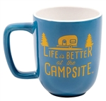 Camco 53232 Life Is Better At The Campsite Travel Mug - 12 Oz