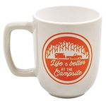 Camco 53233 Life Is Better At The Campsite Travel Mug - Gray/Orange - 12 Oz