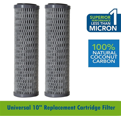 "Clear2O CUF1252 Advanced Carbon Filter 10"" Water Cartridge - 2 Pack"