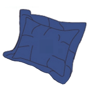 RV Superbag DLPS-NB Navy Blue Matching Pillow Sham Set