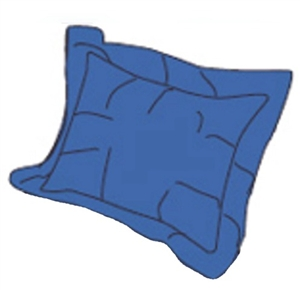 RV Superbag DLPS-SB Steel Blue Matching Pillow Sham Set