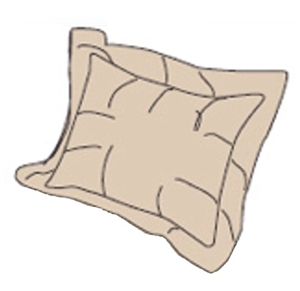 RV Superbag DLPS-TN Tan Matching Pillow Sham Set