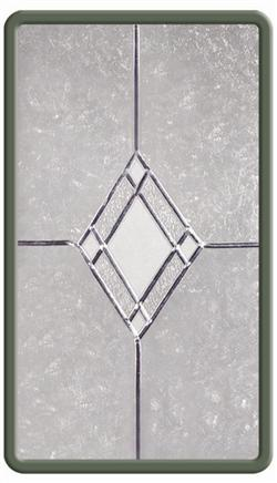 Lead-Crafters  Entrance Elegance Leaded Glass Inserts - Diamond Design