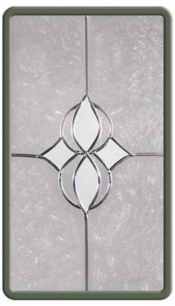 Lead-Crafters  Entrance Elegance Leaded Glass Inserts - Star Design