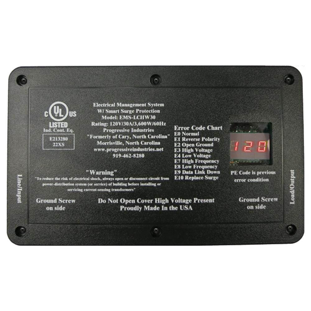 Progressive Industries Ems Lchw50 Hardwired 50 Amp Rv