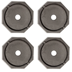 "RV SnapPad EQ-Round Permanent RV Jack Pad 4 Pack - 10"" Equalizer Leveling System"