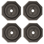"RV SnapPad EQ-Octagon Permanent RV Jack Pad 4 Pack - 10"" Equalizer Leveling System"