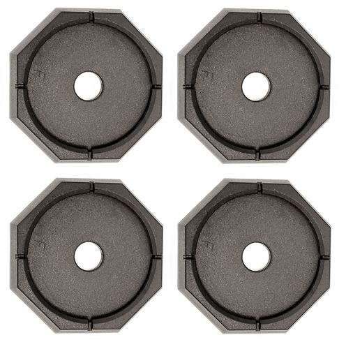 "RV SnapPad EQ-Grand Permanent RV Jack Pad 4 Pack - 12"" Equalizer Leveling System"