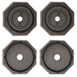 RV SnapPad EQ Grand Octagon Permanent RV Jack Pad - 4 Pack