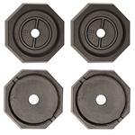 "RV SnapPad EQ-Plus 10"" Permanent RV Jack Pad - 4 Pack - Equalizer Leveling System"