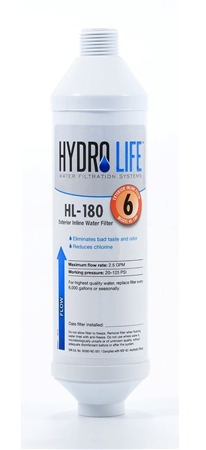 Hydro Life Hl 180 In Line Exterior Rv Water Filter