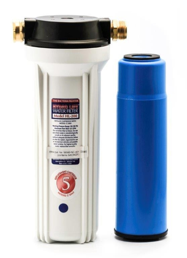 Camco 52141 Hl 200 Exterior Canister Style Filter System