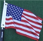 "Flagpole To Go GCF-US 12"" X 18"" American Flag For Golf Cart Flagpole"
