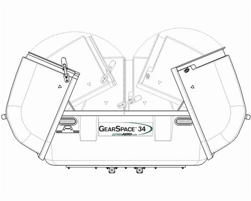 Lets Go Aero Hgk826 Gearspace 34 Telescoping Cargo Carrier